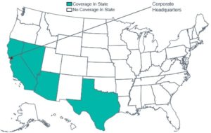 Geographic Coverage Map of Blue Shield of California