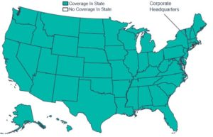 Geographic Coverage Map of Cigna Corporation