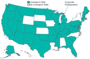 Geographic Coverage Map of Health Care Service Corporation in the U.S.