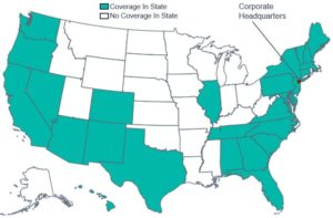 Geographic Coverage Map of Horizon Blue Cross Blue Shield of New Jersey