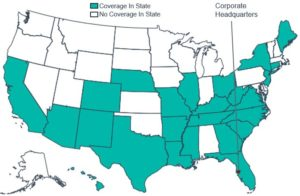 Geographic Coverage Map of WellCare